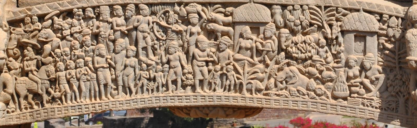 4.+Stupa+1+Northern+Toran+Jataka+Tales+-+Vasantara+and+his+selfless+generosity