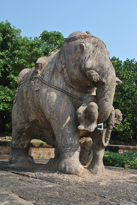 Sun Temple Konark Elephant in Northern side