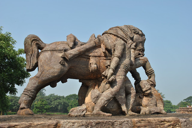 Sun Temple Konark Horse in Southern side