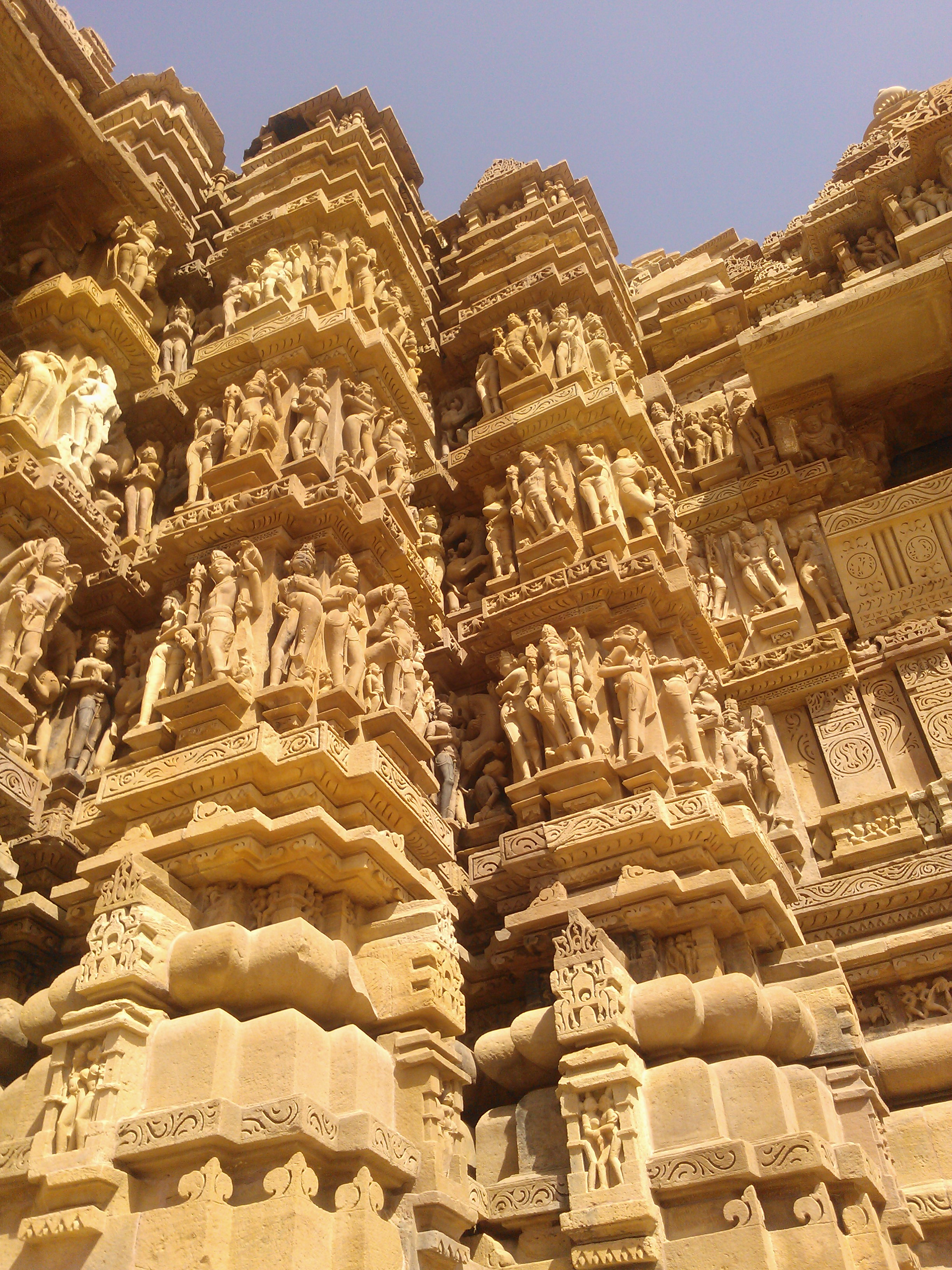 Khajuraho temple art
