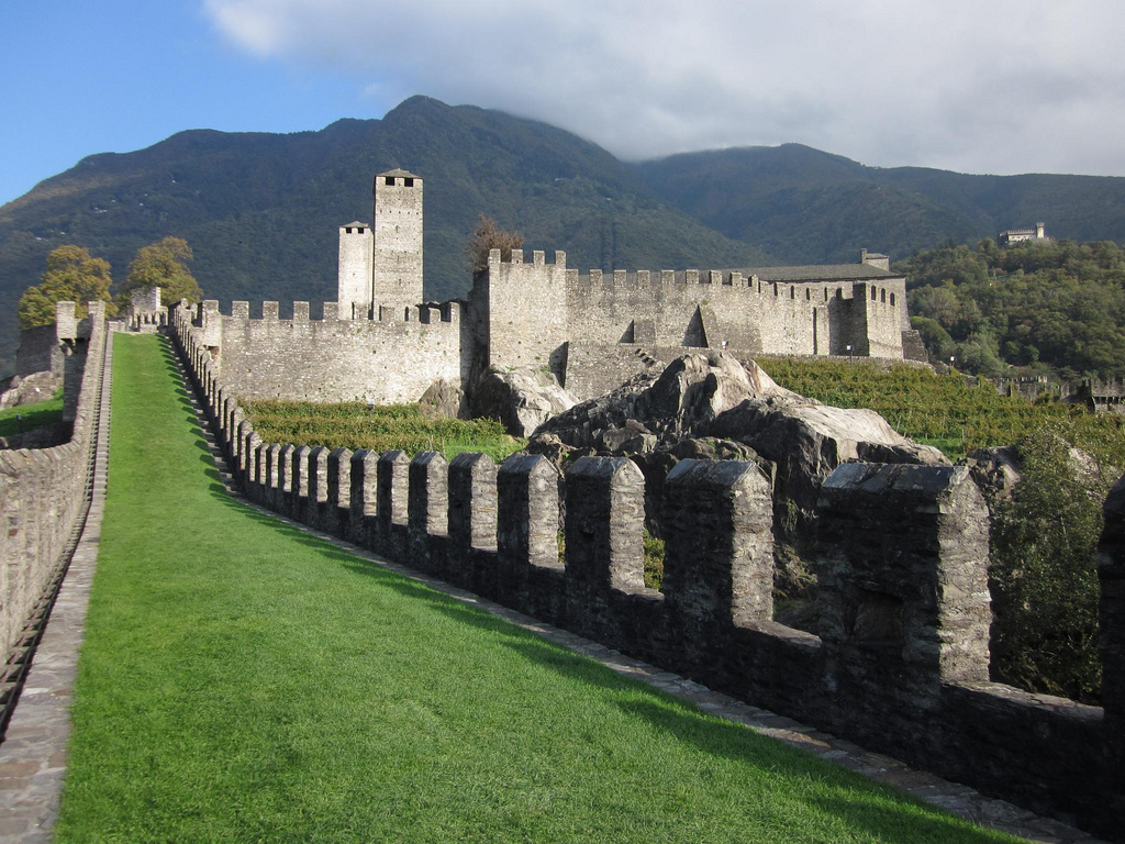 Three Castles, Defensive Wall and Ramparts of the Market-Town of Bellinzona