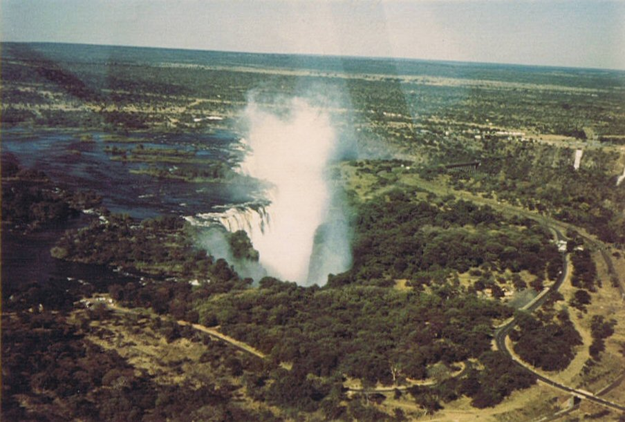 Victoria Falls from the air 1972