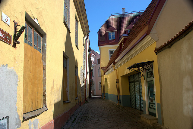 An alley in Tallin Estonia