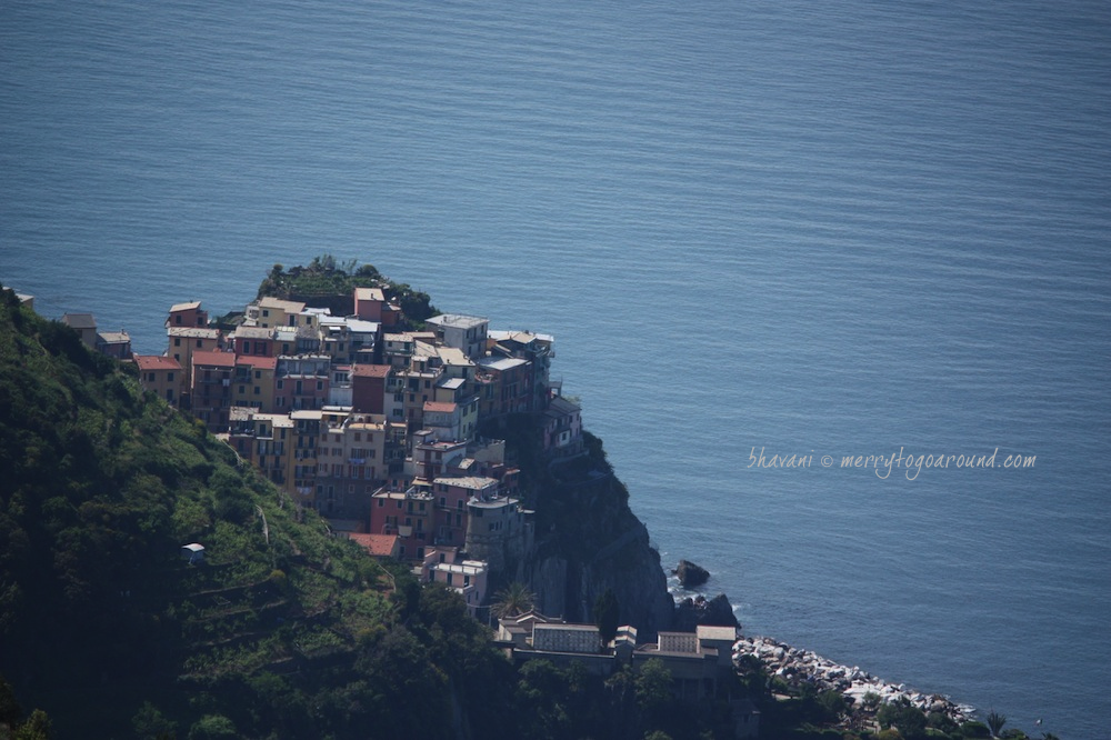 vernazza, cinque terre from a distance