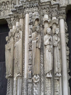 Column in the Cathedral of Chartres