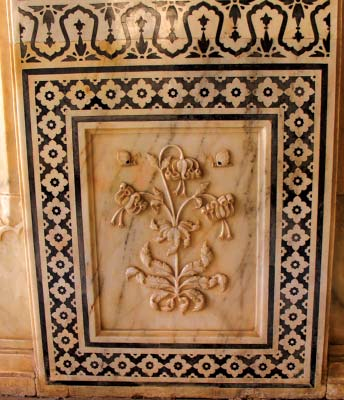 Carved Marble Panel