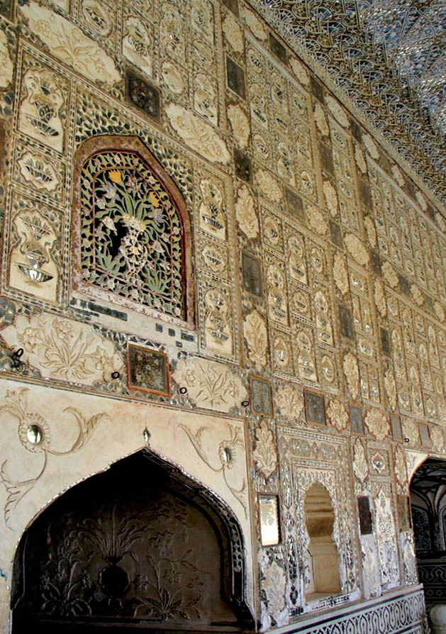 Interior and grill work of Amber Palace