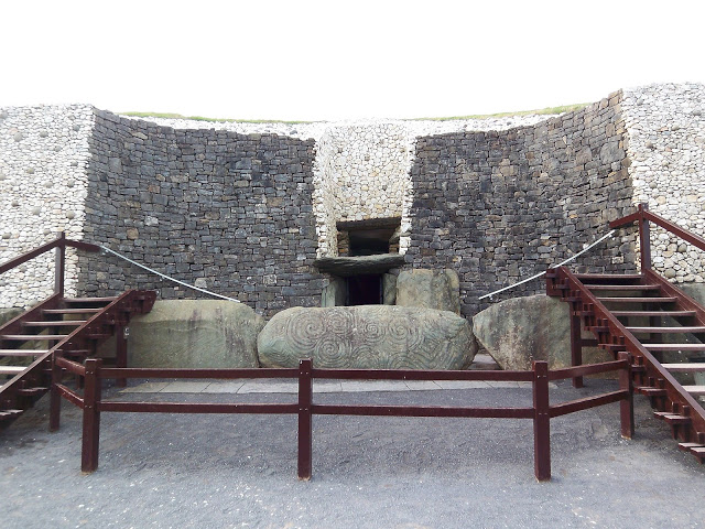 Entrance to Newgrange Burial Tomb