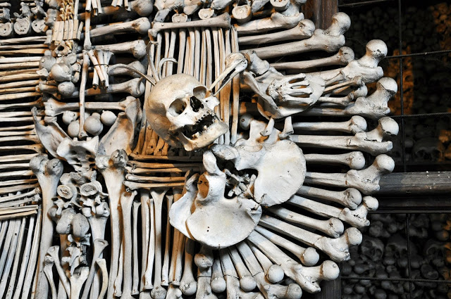 The Sedlec Ossuary (Bone Church) in Kutna Hora