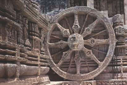Wheel of Konarak Temple, Orissa