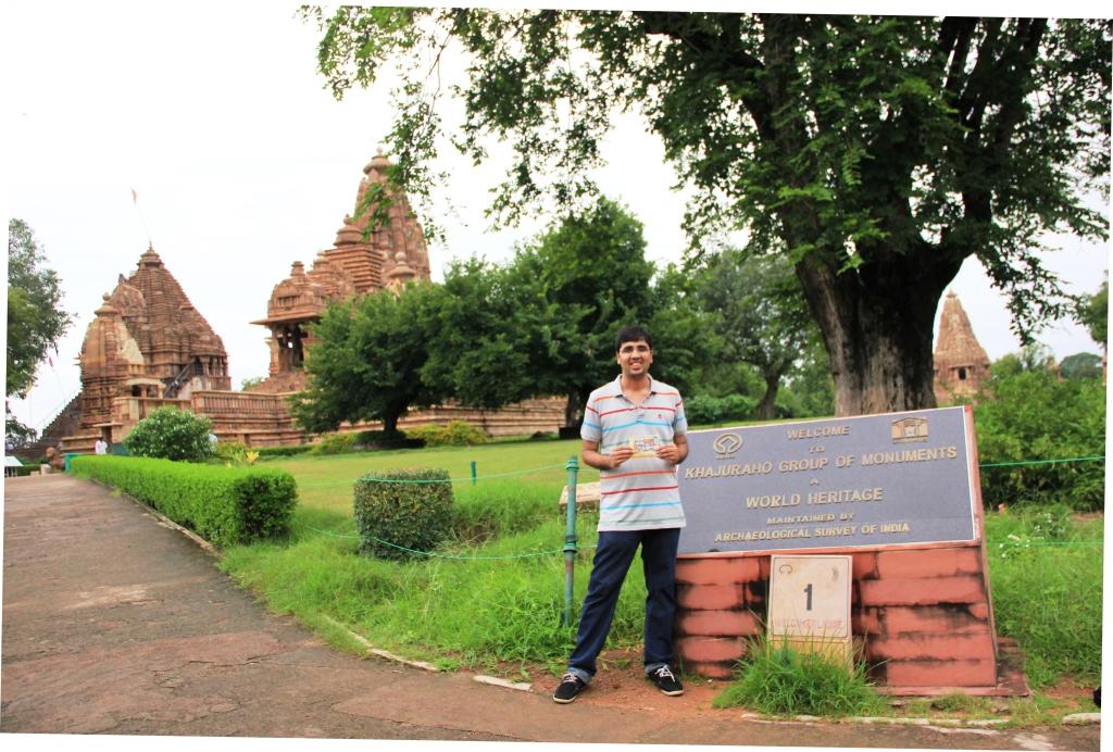 Nishant at Khauraho Temple