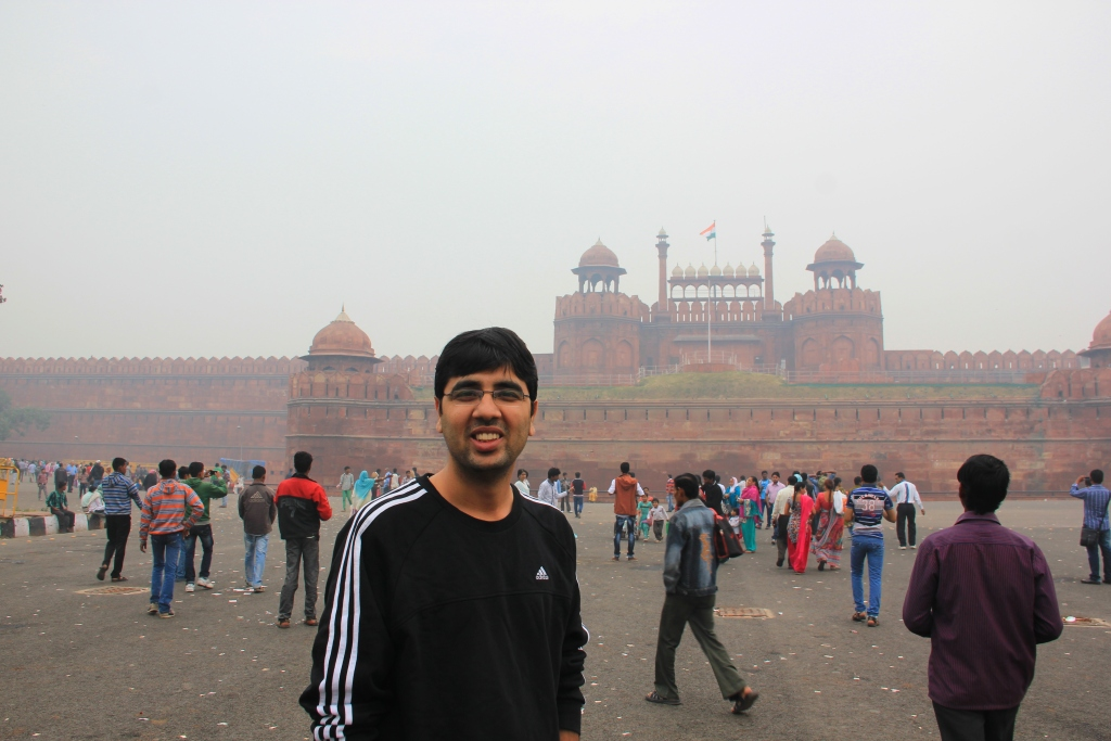 Nishant at Red Fort