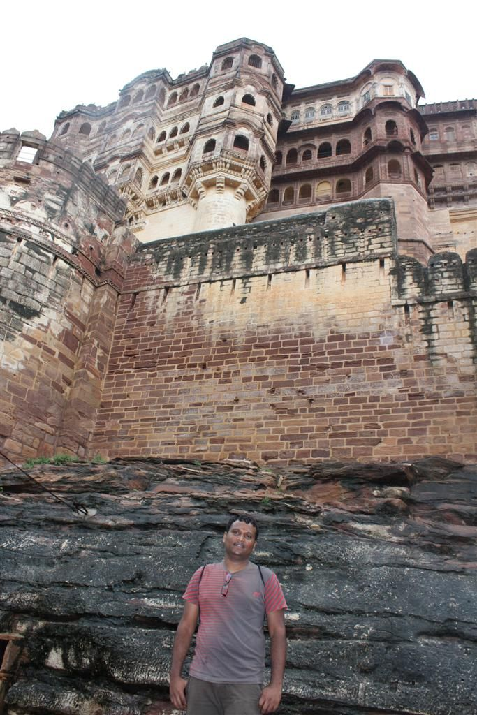 Abhilash at a fort in Rajasthan