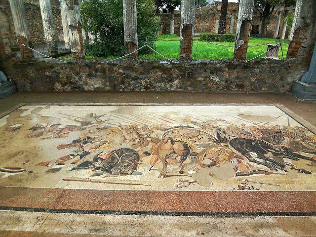 Italy-Pompeii-horse-mosaic