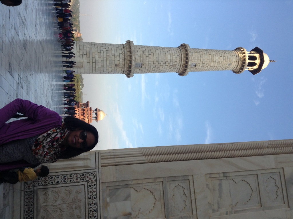In front of one of the minarets