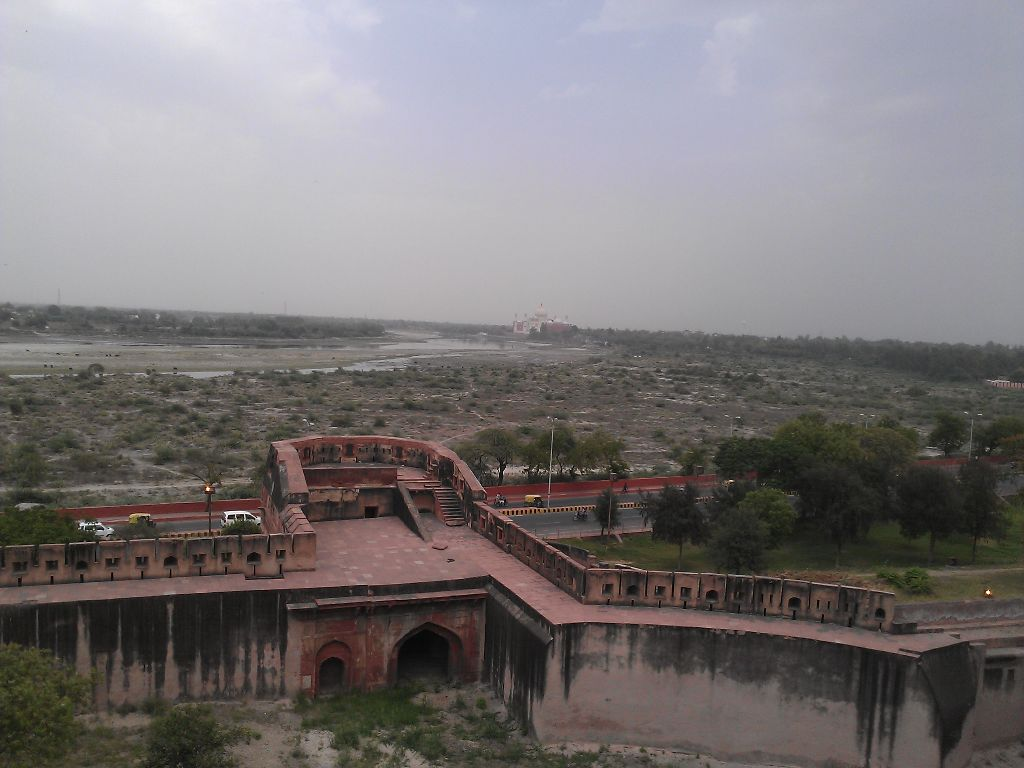 A view of Taj Mahal from Agra Fort