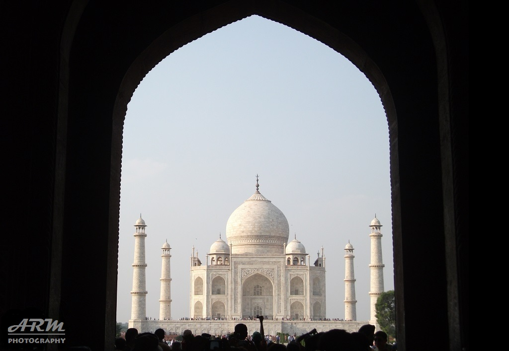 Taj Mahal seen from its main gate..