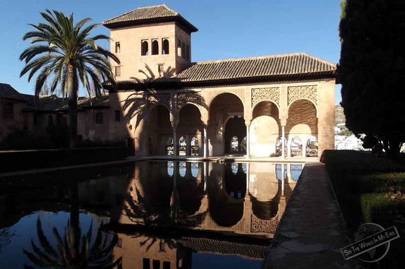 Portico of Alhambra in Granada, Spain