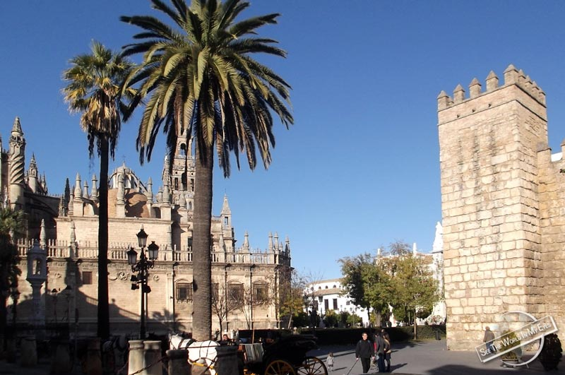 Alcazar and Cathedral in Seville, Spain