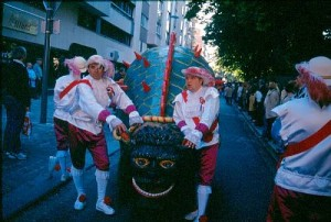 Processional giants and dragons in Belgium and France