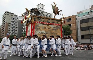 Yamahoko, the float ceremony of the Kyoto Gion festival