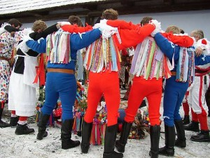 Shrovetide door-to-door processions and masks