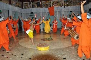 Sankirtana, ritual singing, drumming and dancing of Manipur