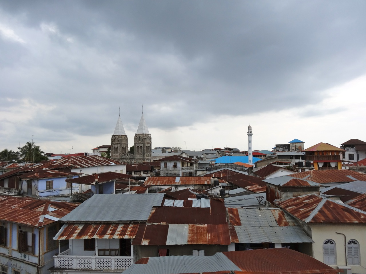 Roof tops of Stone Town zanzibar