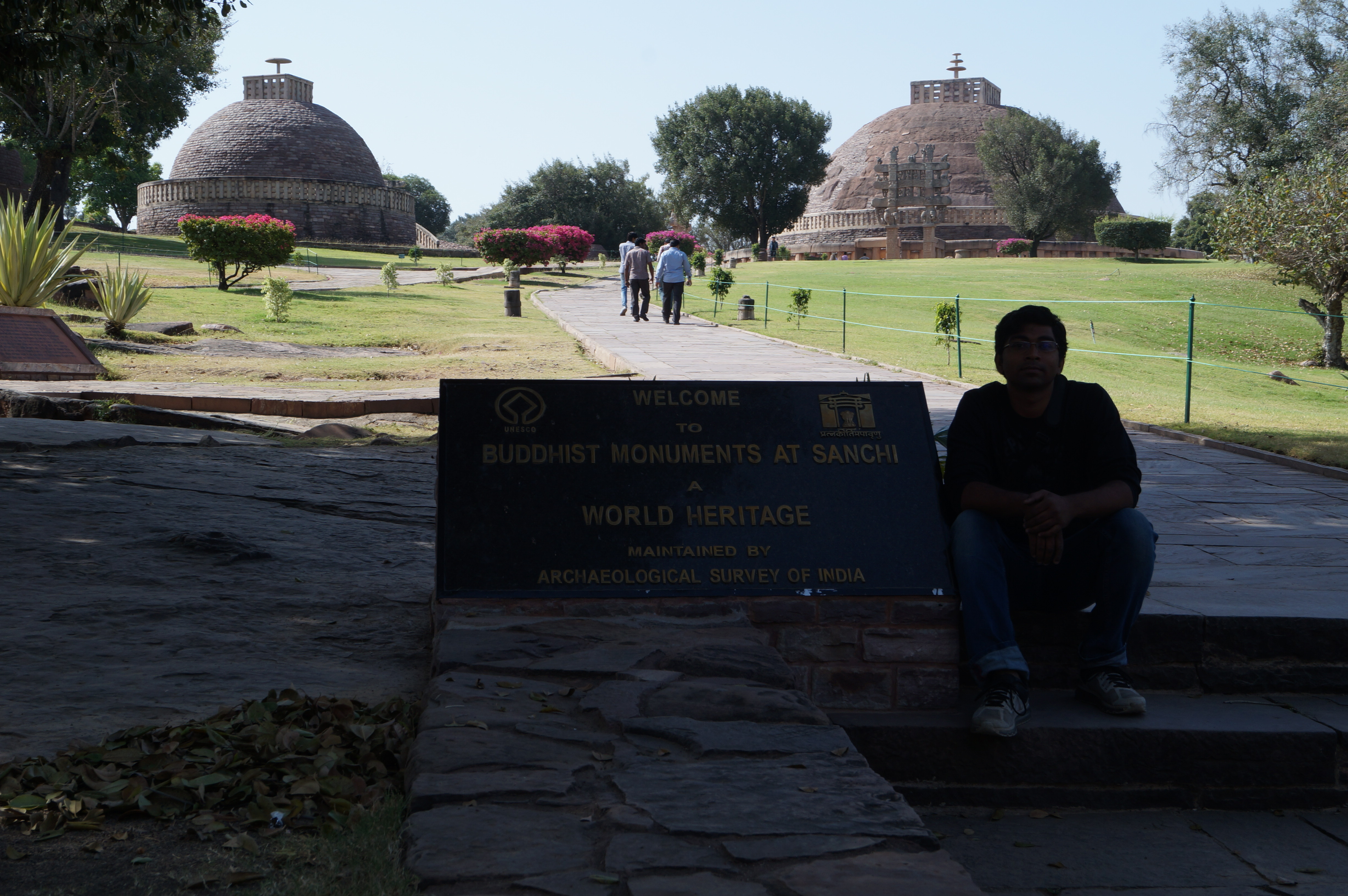 Buddhist Monuments at Sanchi - India prasun bheri