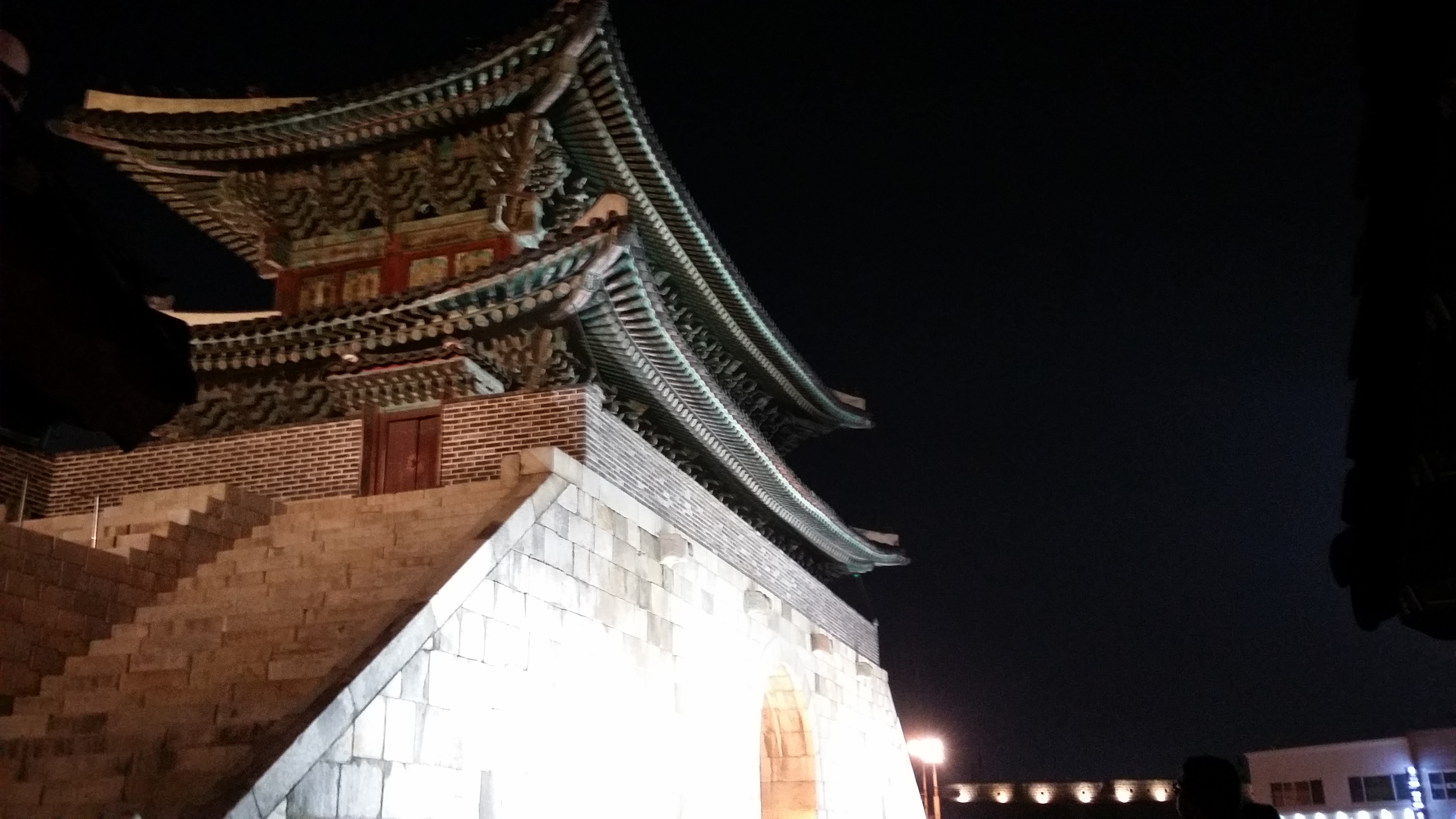 Standing high on Suwon - Hwaseong Fortress - Republic of Korea (South Korea) Vidya Charan