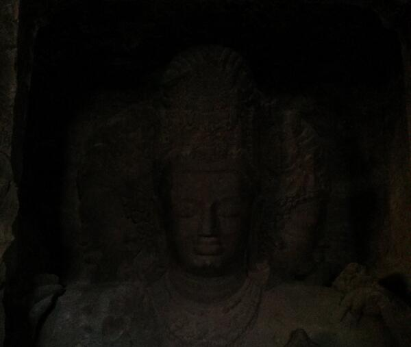 The Creator, the Preserver and the Destroyer Elephanta Caves - India Nilanjan Chakrabarti