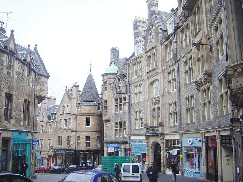 View of Edinburgh's Old Town architecture, copyright by David Monniaux