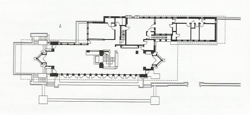 Robie house - Floor plan Source: stopalik.com