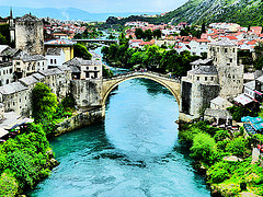 A Bridge Between Religions Old Bridge Area of the Old City of Mostar - Bosnia and Herzegovina Trailblazer