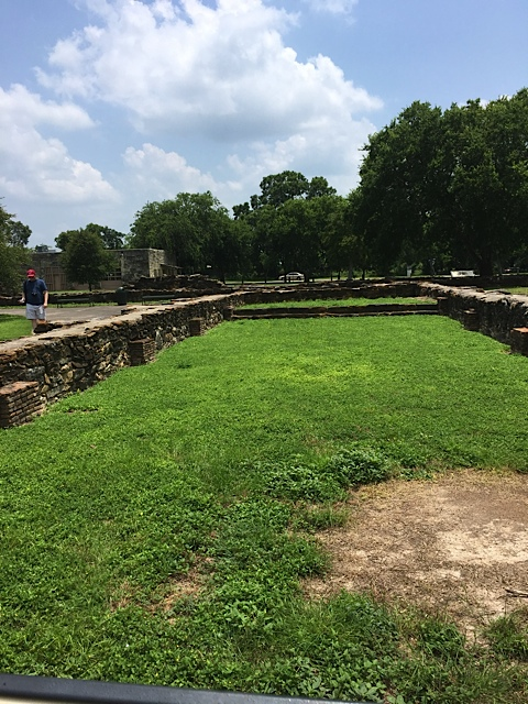 Foundations of chapel, residences and workshops at Mission Espada. Photo Credit: Kathleen DesOrmeaux June 2016
