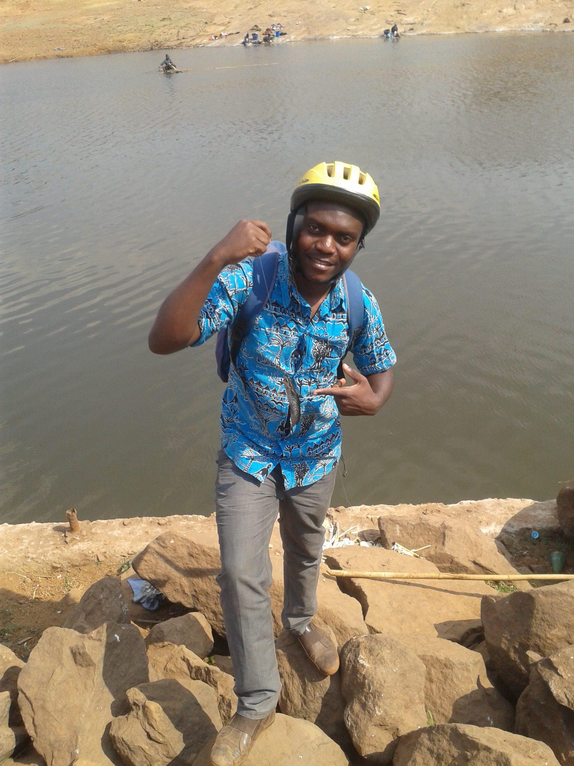Abel at Kamuzu Dam