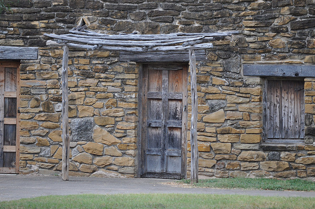 Doorway and one section of housing at Mission San Jose. Photo Credit: Lisa Easterling October 2010
