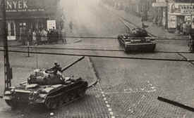 Russian tanks in Budapest. Source: historylearningsite.co.uk