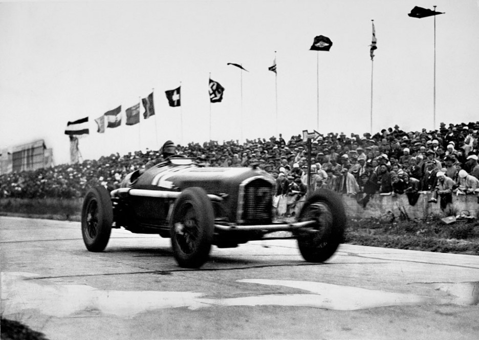 Nuvolari with the Alfa Romeo P3