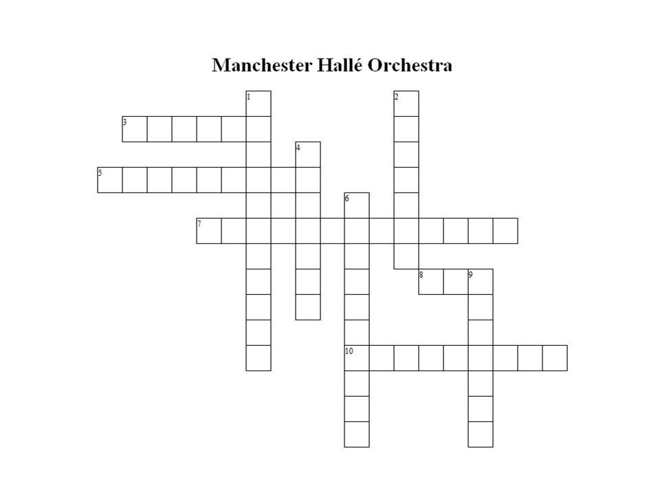 """Manchester Hallé Orchestra"" Crossword - GIP"
