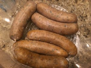 Steamed boudin  Photo Credit: Kathleen DesOrmeaux July 2015