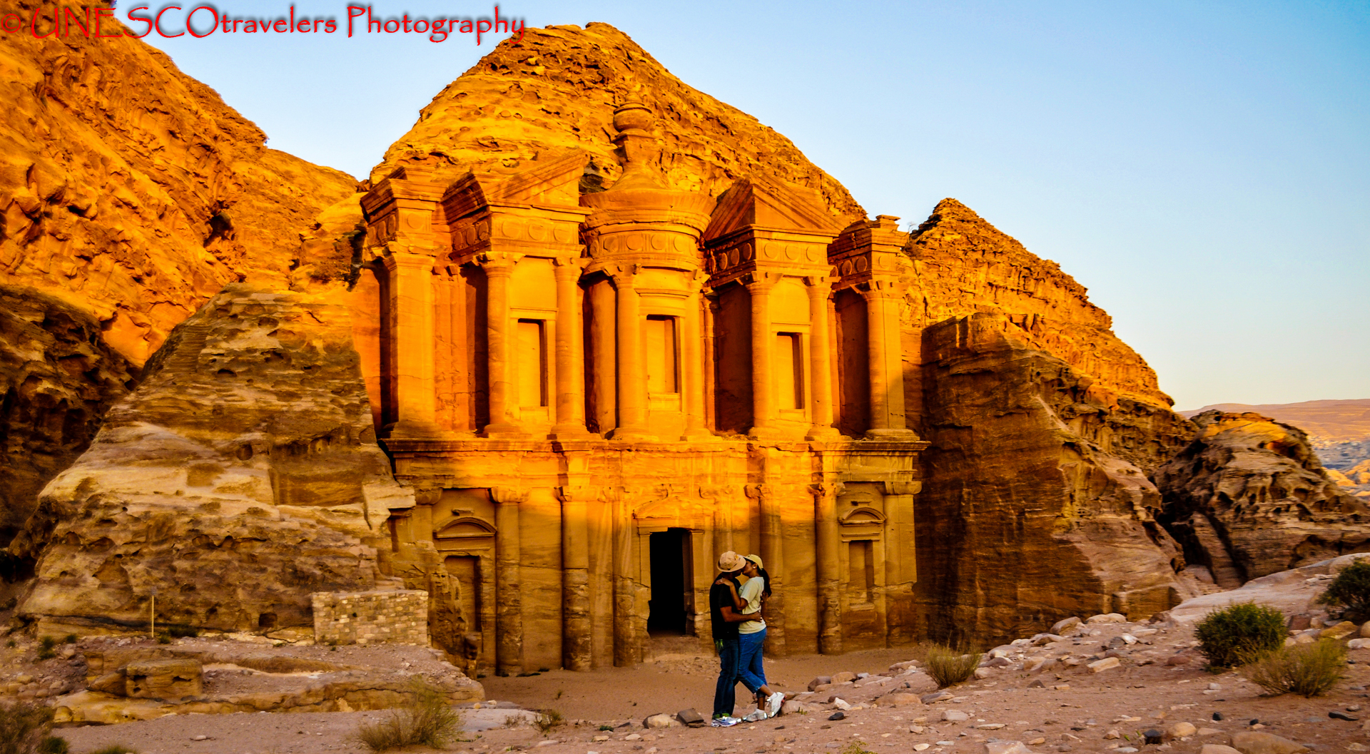 The Treasury and Monastery of Petra @ Jordan Petra - Jordan By UNESCOtravelers