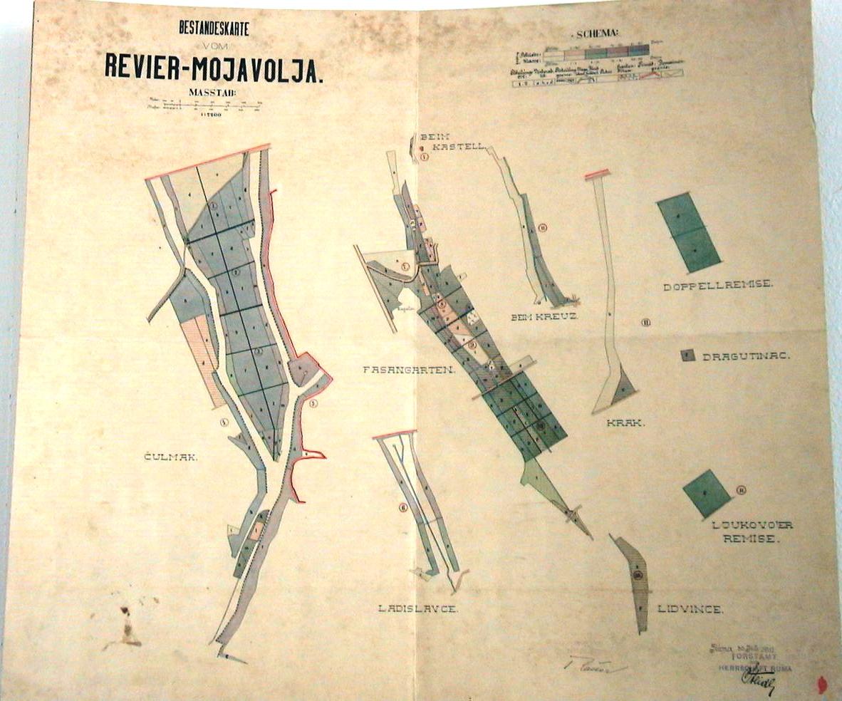 Ground plan of Moja Volja area, from Homeland Museum of Ruma