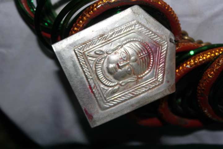 The pendent of Goddess Kadak Lkshmi