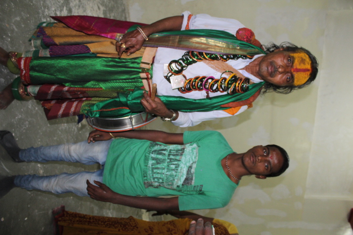 Lakshman Sathe with his student Lakhan