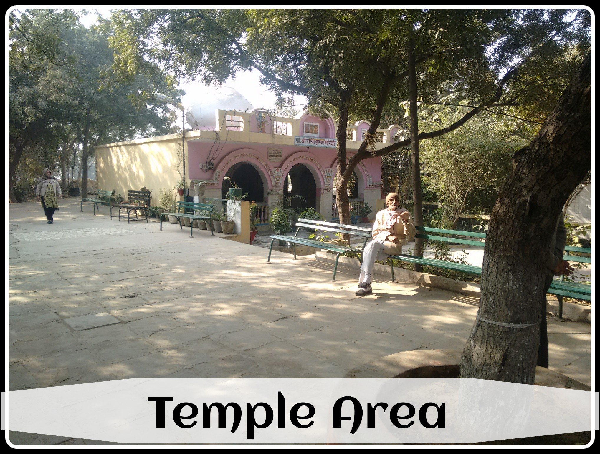 The temple area