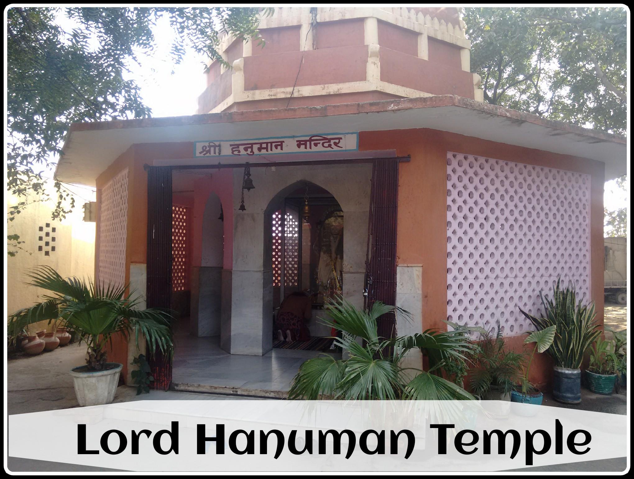 The hanuman temple
