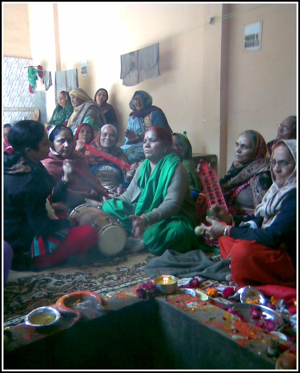 Kirtan Mandli Singing and playing Instruments