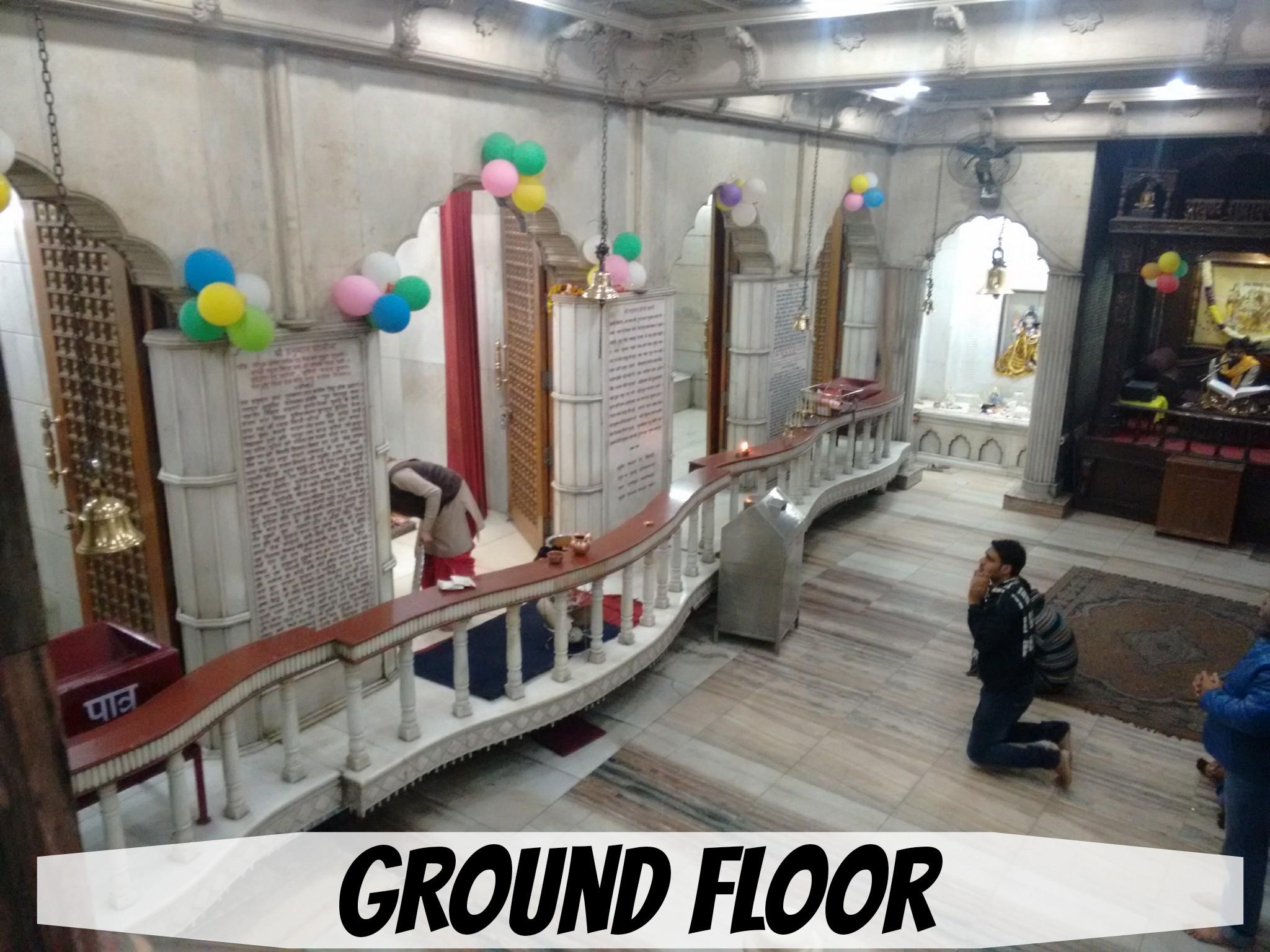 THE GROUND FLOOR OF THE MANDIR