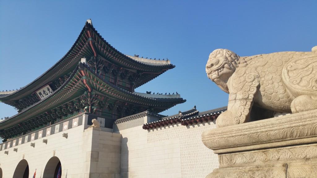 KwangHwa Moon with Hachi-the imaginary gatekeeper
